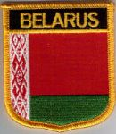 Belarus Embroidered Flag Patch, style 07.